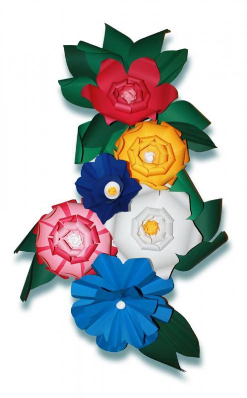 Décor floral origami papier Canson