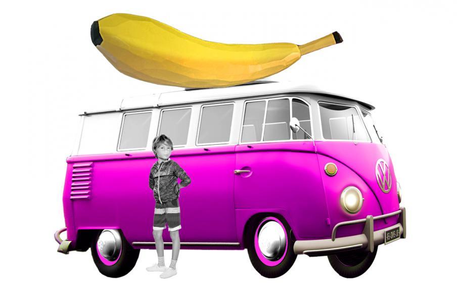 fabrication d'une banane géante + customisation et aménagement d'un combi Volkswagen