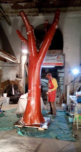 Etape 2 de la fabrication de l'arbre factice
