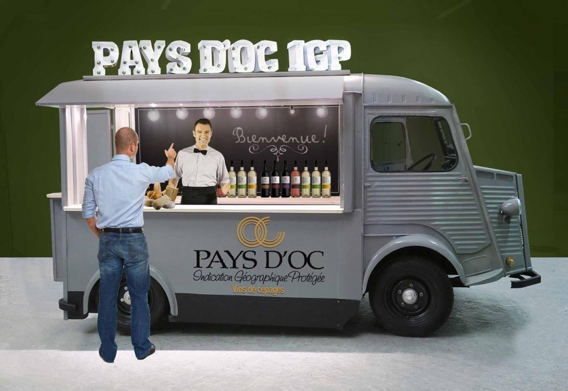 Wine truck Pays d'Oc, un stand insolite et convivial