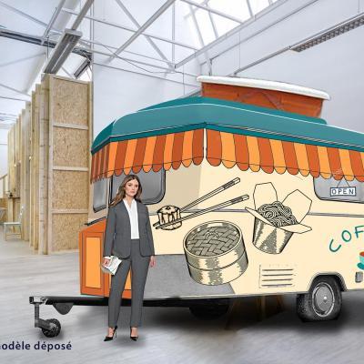 Caravane restauration espace coworking par C2KXXL