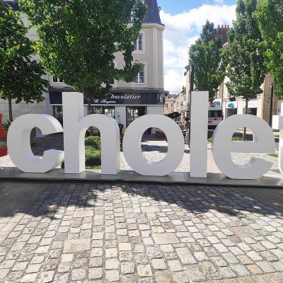 Lettres géantes pour la ville de Cholet