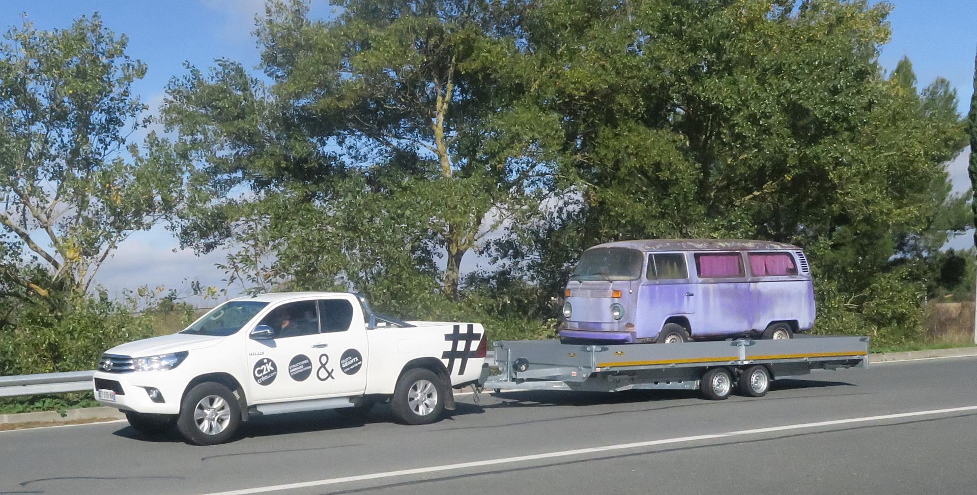 transport de véhicule avant customisation et réfection
