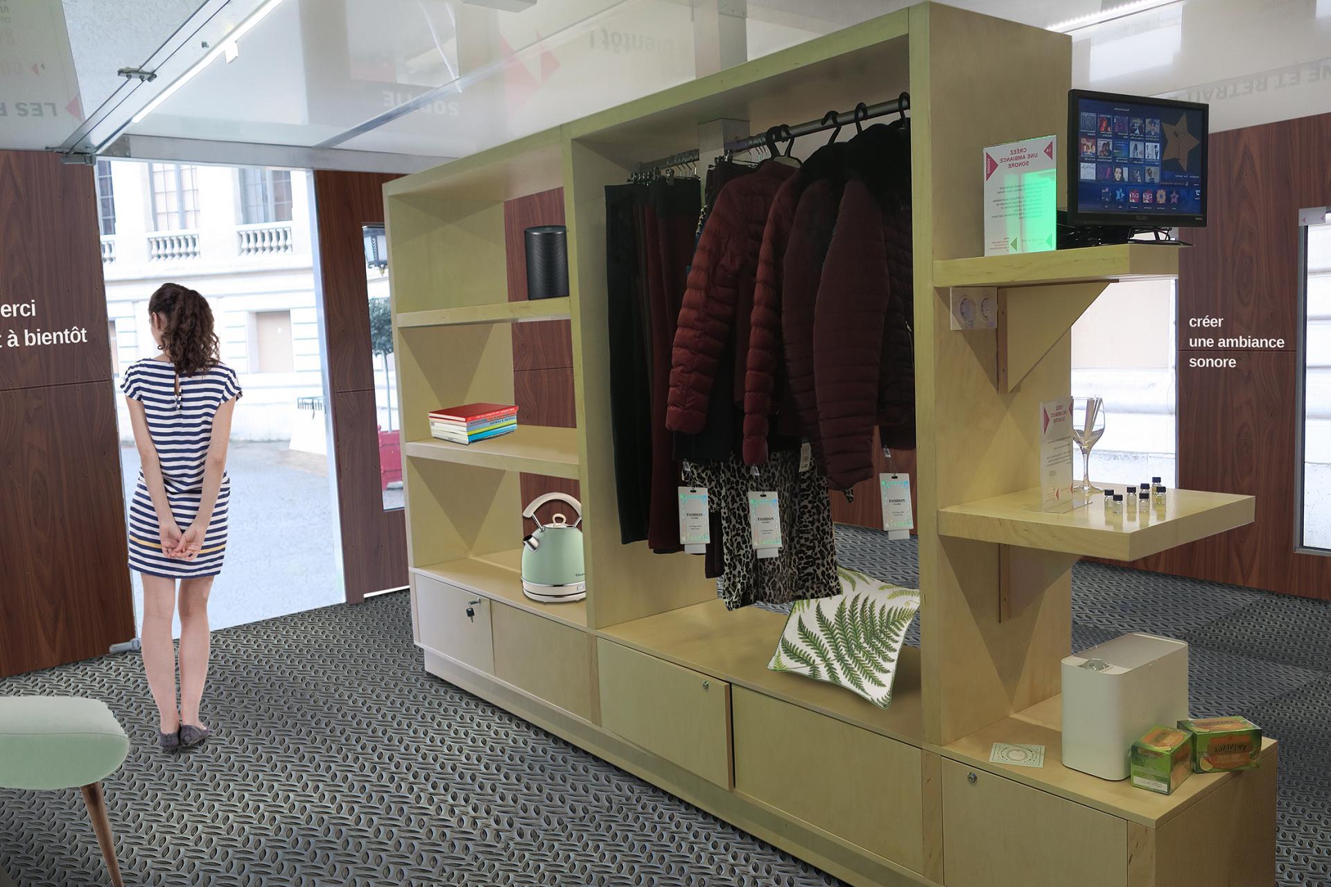 Aménagements interieurs de la boutique show room mobile