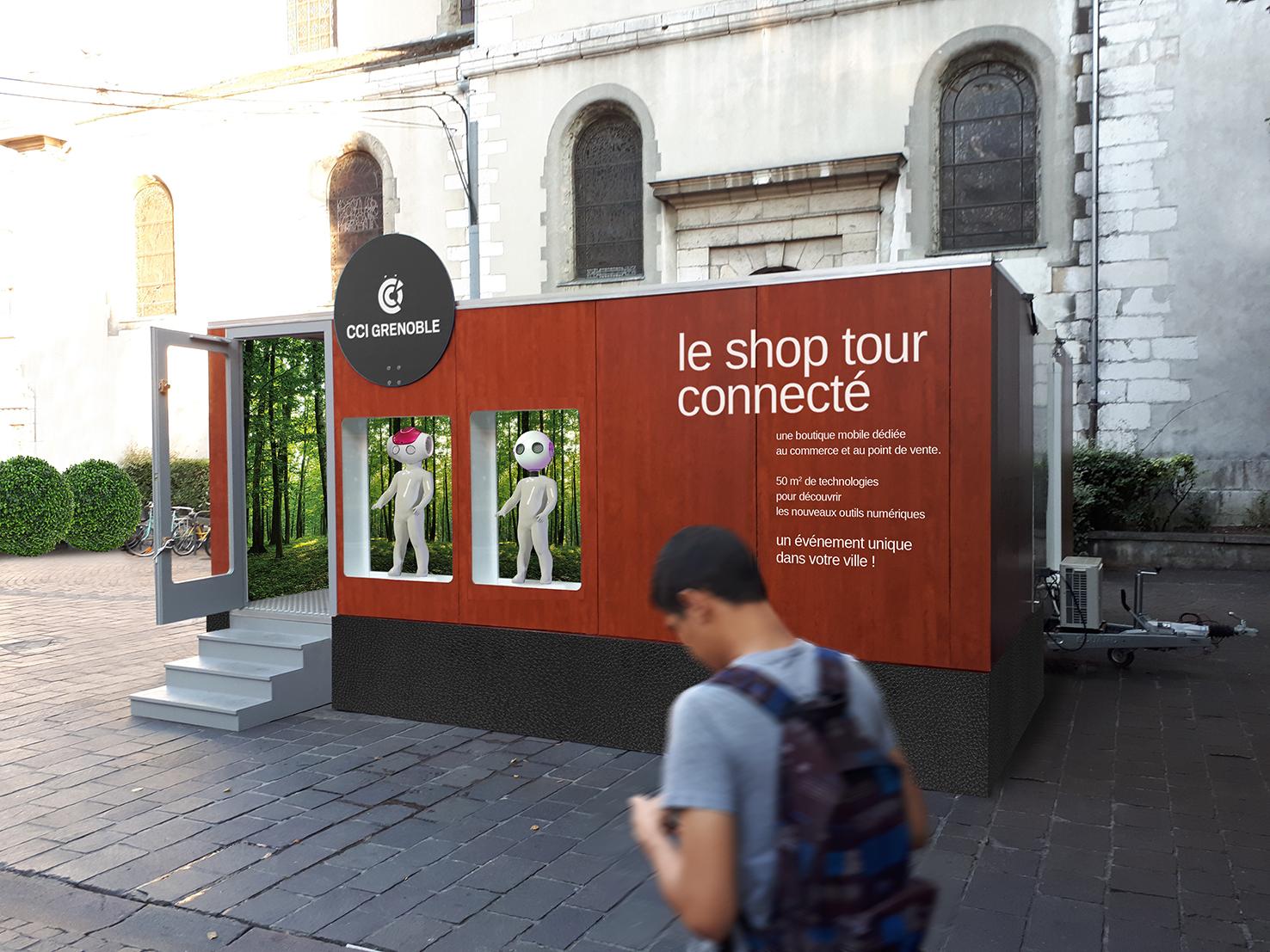 Le Tour Connecté showroom mobile, CCI Grenoble bdf