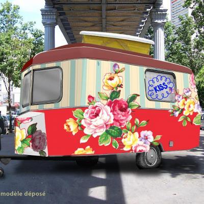 Une caravane reconvertie en point de vente par c2kxxl