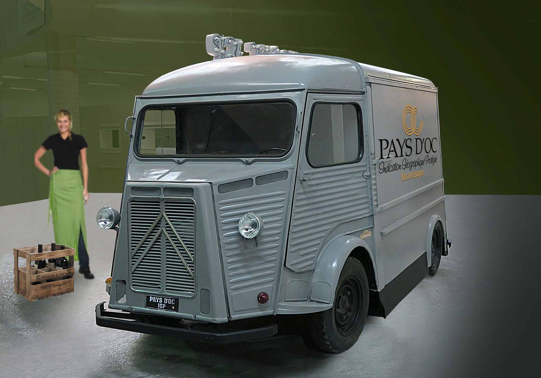 Wine truck restauré pour Pays d'Oc